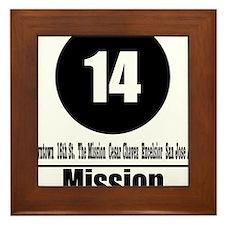 14 Mission (Classic) Framed Tile