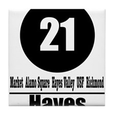 21 Hayes (Classic) Tile Coaster