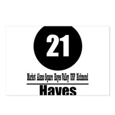 21 Hayes (Classic) Postcards (Package of 8)