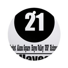 21 Hayes (Classic) Ornament (Round)