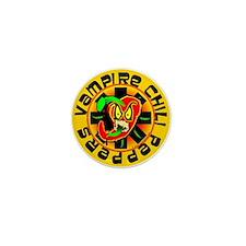 Vampire Chili Peppers Mini Button