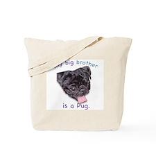 My bib brother is a (black) P Tote Bag