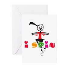i spin, i jump Ice Skating Greeting Cards (Pk of 2