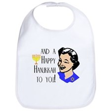 And a Happy Hannukah to You! (Woman) Bib