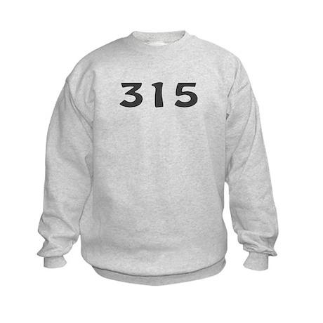 315 Area Code Kids Sweatshirt