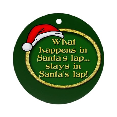 Santa's Lap Ornament (Round)