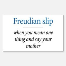 Freudian slip - Rectangle Decal