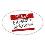 Twilight - Edward's Girlfrien Oval Sticker