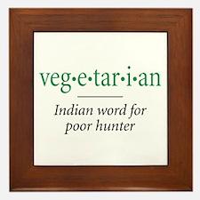 vegetarian - Framed Tile