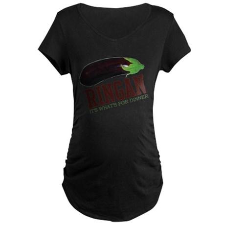 Ringan - Its Whats For Dinner Maternity Dark T-Shi