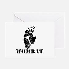 Wombat Footprint Greeting Card