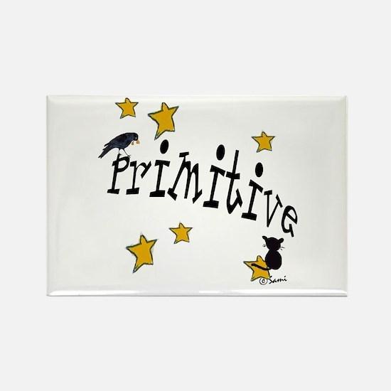 "Name ""Primitive"",Stars, Crow, Rectangle Magnet"
