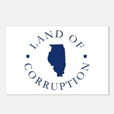 Illinois - Land Of Corruption Postcards (Package o