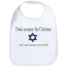 Don't Assume I'm Christian Bib
