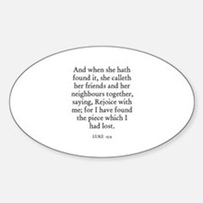 LUKE 15:9 Oval Decal