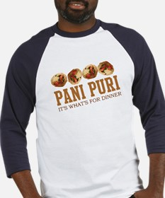 Pani Puri - Its Whats For Din Baseball Jersey