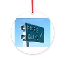 Parris Island Exit Ornament (Round)