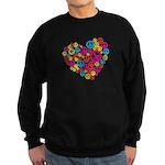 Love & Peace in Heart Sweatshirt (dark)