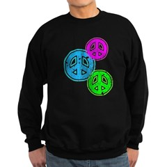 Glowing colorful Peace Signs Sweatshirt