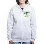 Earth Day : Green & Lovely Women's Zip Hoodie