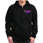 Peace Wing Groovy Zip Hoodie (dark)
