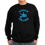World Peace, Peace and Love. Sweatshirt (dark)