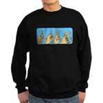 Love & Peace hands Sweatshirt (dark)