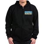 Love & Peace hands Zip Hoodie (dark)