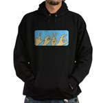 Love & Peace hands Hoodie (dark)