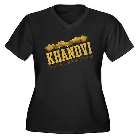 Khandvi - Its Whats For Dinne Women's Plus Size V-