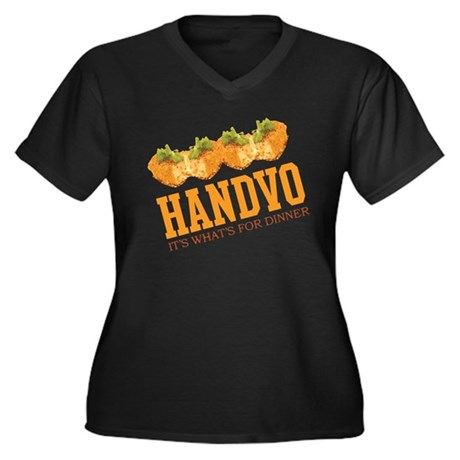 Handvo - Its Whats For Dinner Women's Plus Size V-