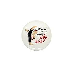 Funny Kicking Man 2 Mini Button