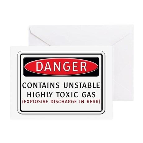 Danger: Contains Unstable Hig Greeting Card