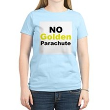 No Golden Parachute Women's Pink T-Shirt
