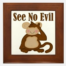See No Evil Framed Tile