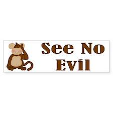 See No Evil Bumper Bumper Sticker