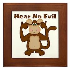 Hear No Evil Framed Tile