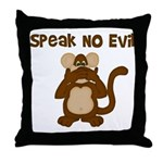 Speak No Evil Throw Pillow
