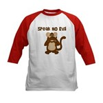 Speak No Evil Kids Baseball Jersey
