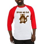 Speak No Evil Baseball Jersey