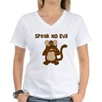 Speak No Evil Women's V-Neck T-Shirt