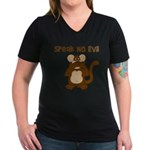 Speak No Evil Women's V-Neck Dark T-Shirt