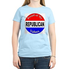 Proud Republican Values (Front) Women's Pink T-Shi