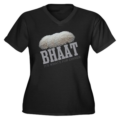 Bhaat - Its Whats For Dinner Women's Plus Size V-N
