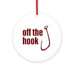 Fish Hook Ornament (Round)