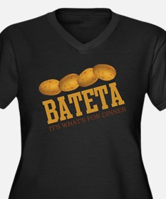 Bateta - Its Whats For Dinner Women's Plus Size V-
