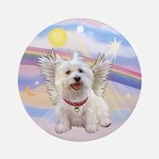 Westie Angel Ornament (Round)