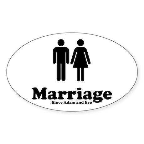 Wedded Bliss Oval Sticker