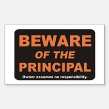 Beware / Principal Rectangle Decal