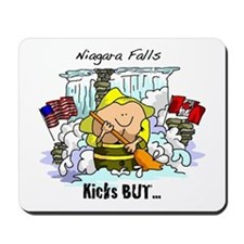 Niagara Falls Kicks But Mousepad